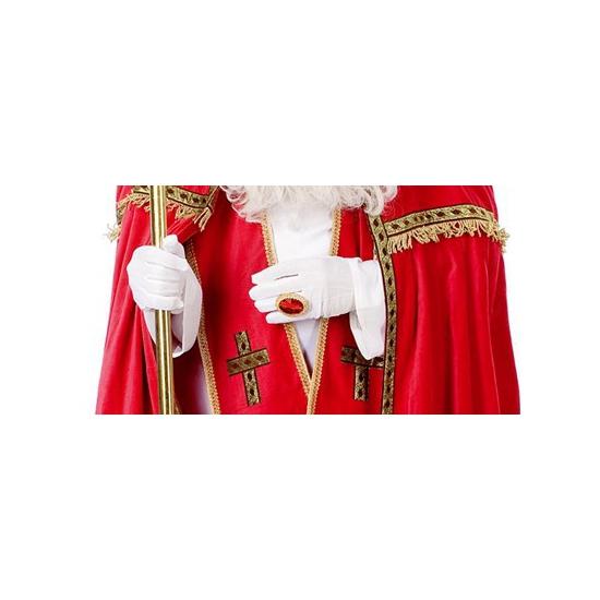 Witte Sinterklaas handschoenen kort thumbnail