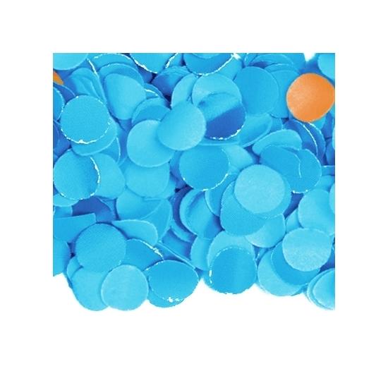 Zakje met 100 gram blauwe confetti