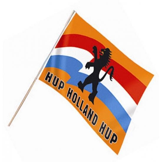 Zwaaivlag met Hollandse leeuw (bron: Funenfeestwinkel)
