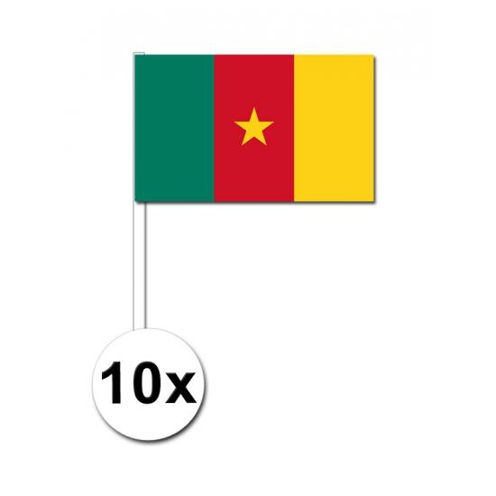 Zwaaivlaggetjes Kameroen 10 stuks