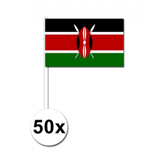 Zwaaivlaggetjes Kenia 50 stuks