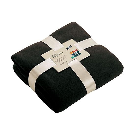 Zwart fleece deken (bron: Funenfeestwinkel)