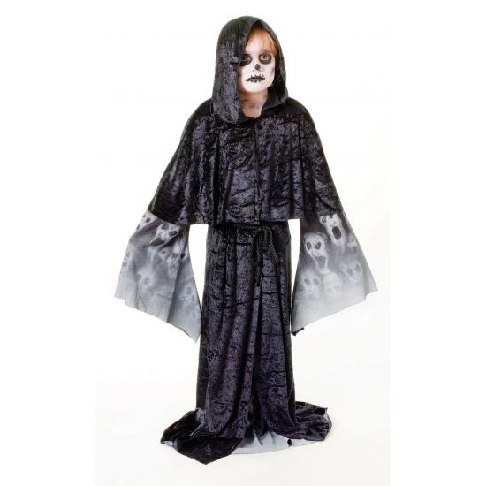 Zwarte zombie cape voor kinderen (bron: Funenfeestwinkel)