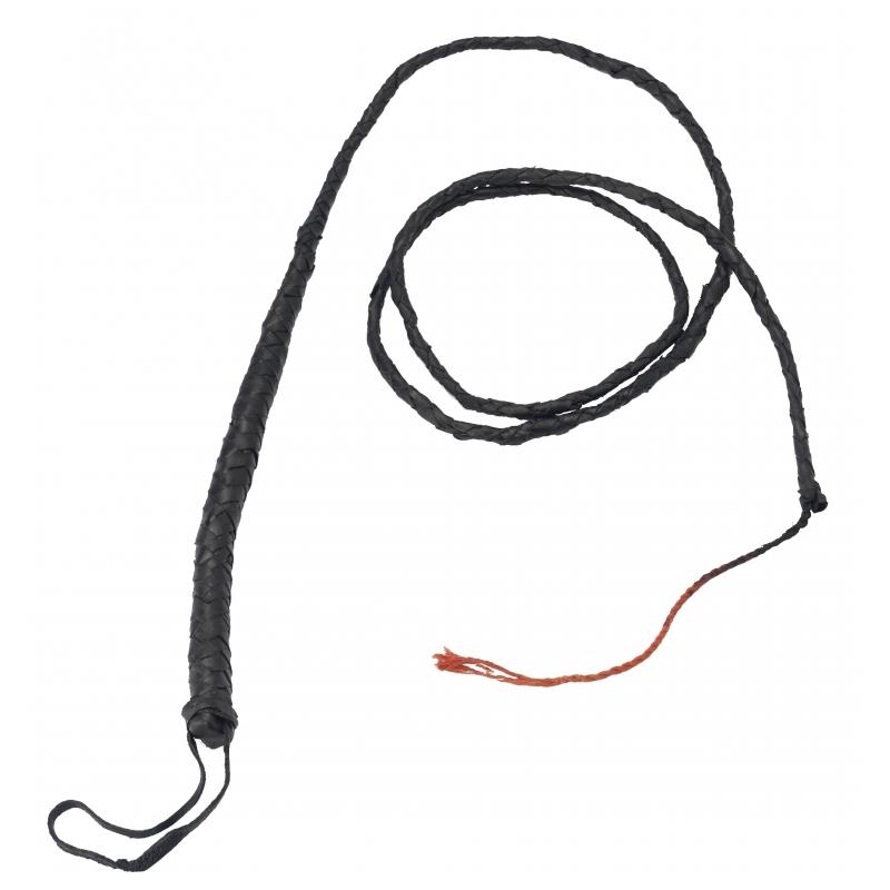 Zwarte zweep van 183 cm (bron: Funenfeestwinkel)